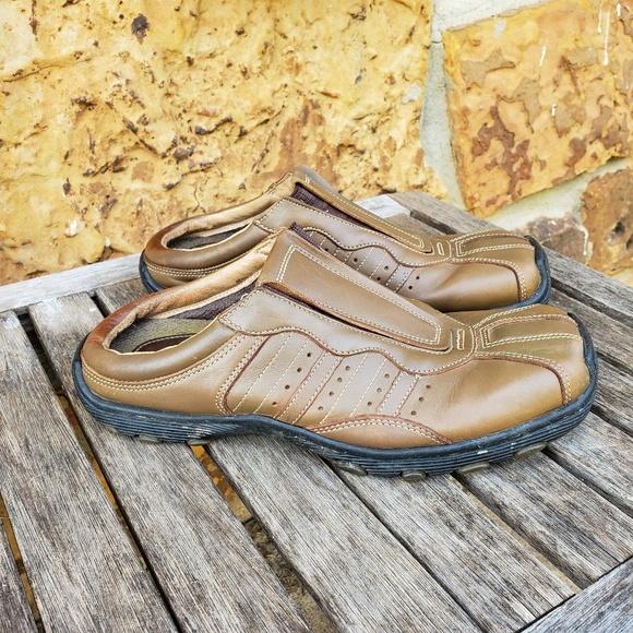 Dr. Martens Other - Dr Martens Sz 41 brown leather slip on Mules sz 8